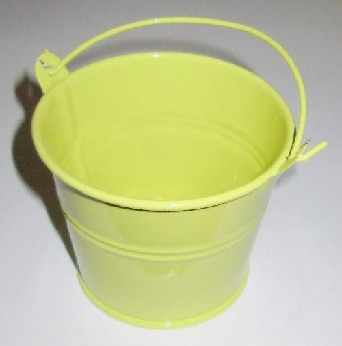 Ведерко декоративное 7,5/6 см, горчичное