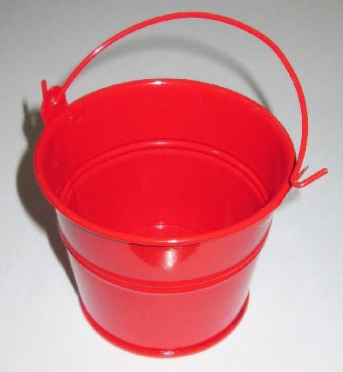 Відерце декоративне 7,5/6 см, червоне