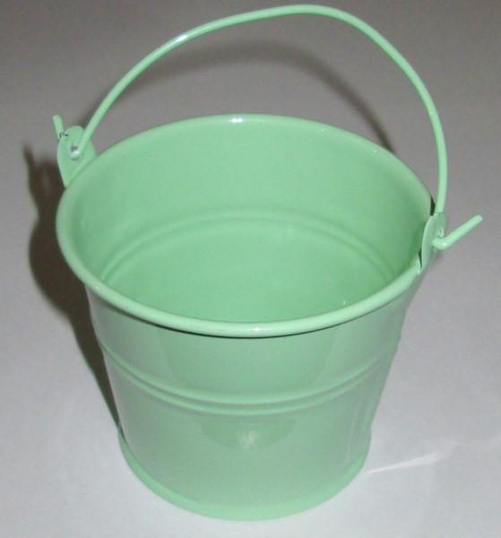 Ведерко декоративное 7,5/6 см, мятное