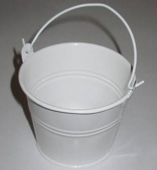 Ведерко декоративное 7,5/6 см, белое