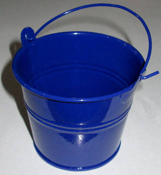 Ведерко декоративное 7,5/6 см, синее