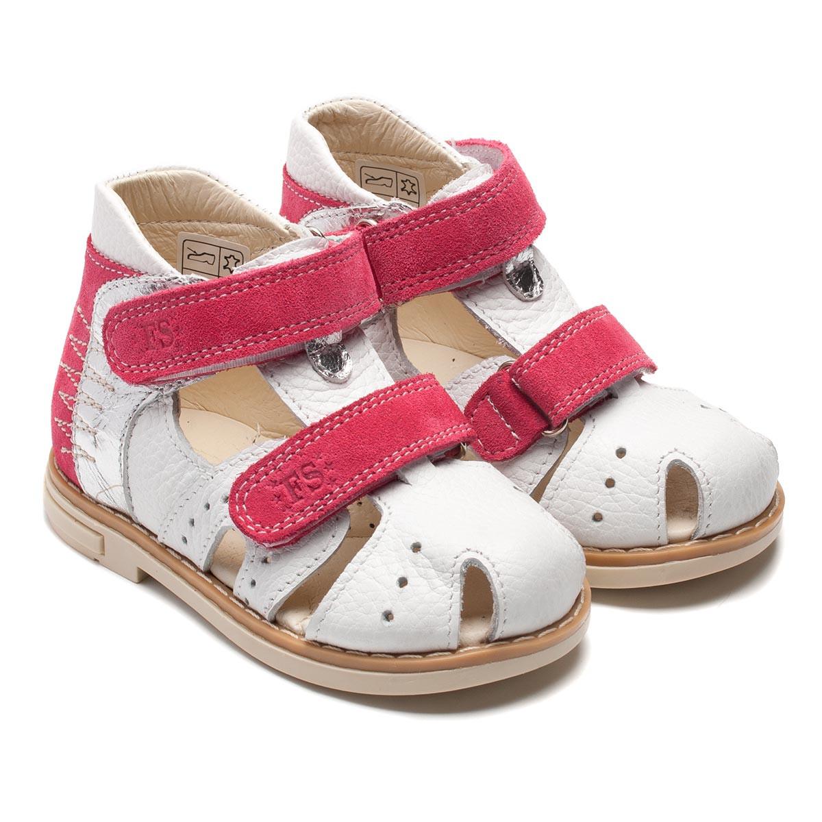 Кожаные, белые босоножки для девочки, размер 20-30 Подробнее: http://ortopedic.com.ua/p296421225-kozhanye-belye-bosonozhki.html