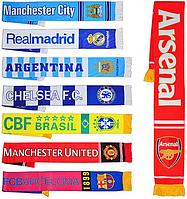 Шарф MS 0809 символика футбольных клубов, 8 видов, 132-17см, в кульке
