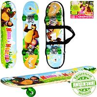 Скейт MM 0009 детский Маша и медведь