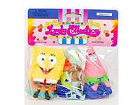 Набор игрушек-пищалок для купания SpongeВob 3 штуки Metr+ КР8003А-С