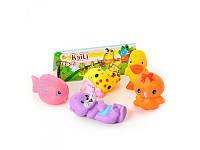 Набор игрушек-пищалок для купания 5 штук Животные 5  Kaili Toys 328-40