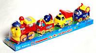 Детская игрушка Паровоз Стройтехника Metr+ M 0374 U/R