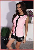 """Блузка Летняя супер-лёгкая """"Синди"""" цвет нежно-розовый"""
