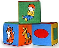 "Набор из трёх мягких кубиков, ""Розумна Іграшка"""