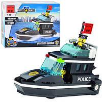 Конструктор Полицейский катер 95 деталей  BRICK 457830/130