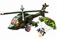 Конструктор Военный вертолет 275 деталей BRICK 818