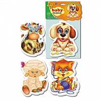 Пазлы для самых маленьких Домашние любимцы Vladi Toys VT1106-07
