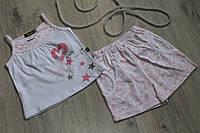 Летний костюм для девочки турецкий трикотаж на возраст 9 мес, 12 мес