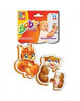 Магнитные детские пазлы Пушистики Vladi Toys VT3208-04