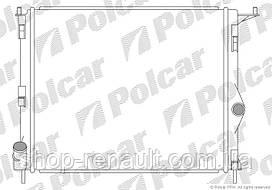 Радиатор охлаждения двигателя без кондиционера Logan/MCV/Sandero 1.4-1.6 MPI Faza 2 POLCAR, 280108-1