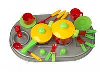 Кухня плита с мойкой и посудой Kinder Way 04-409