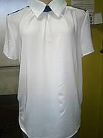 Блуза цвет белый 48р