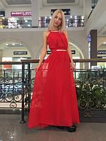 Шифоновое платье в пол т-40264
