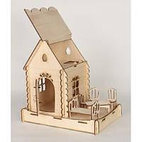 Збірна дерев'яна модель будинок домовика