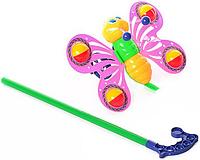 "Детская игрушка-каталка ""Бабочка"" 3802-3 на палке (2 цвета)"