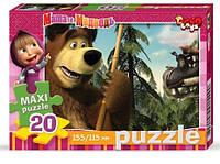 Макси пазл 20 картон Маша и медведь