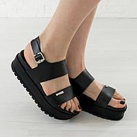 Босоножки Woman's heel черные (О-727)