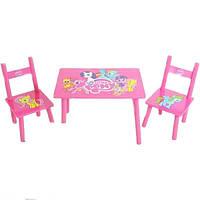 Столик со стульчиком Bambi M 1522 Розовый понb