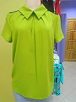 Блуза цвет оливковый 46р