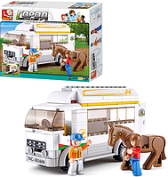 "Конструктор ""Машина для перевозки лошадей"" M38-B0559 Sluban (170 деталей)"
