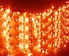 Плей лайт ламповый занавес (3х2) (цвет красный)