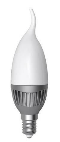 LED лампа E14 Electrum свеча на ветру 5W(460Lm) 4000K LC-14 алюм. корп.