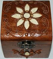 Шкатулка деревянная с металлическим декором 172020 ТМ Дерево