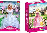 Кукла DEFA 8239 музыка, свет, сумочка, расческа, (2 вида)