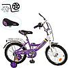 Детский двухколесный велосипед 18 дюймов Profi P 1848A (фиолетовый)