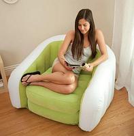 Надувное велюровое кресло Intex 68571 (3 цвета)