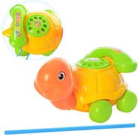 """Детская игрушка-каталка """"Черепаха с телефоном"""" 508"""