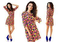 Платье женское короткое шифоновое летнее P2591