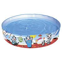 Бассейн детский круглый надувной Bestway 55021