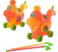 Детская игрушка Каталка на палке 8501-154 Петушок (2 цвета)