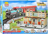 Конструктор Железнодорожная станция (8 в 1) Jubilux (721 деталь)