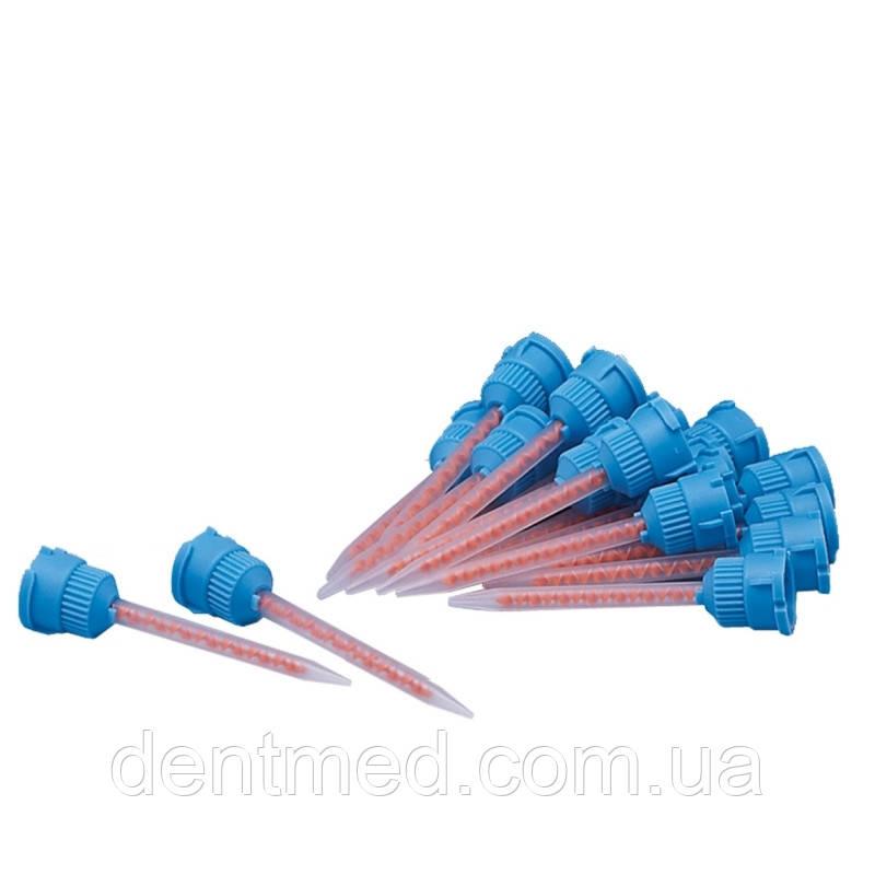 Насадка смешивающая №6, L=77мм, 4:1/10:1, голубая-оранж.ротор, конусная, 48 шт. NaviStom