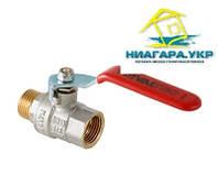 """Кран шаровой стальная рукоятка, никелированный, в/н 1/2"""" VALTEC BASE VT.215.N"""
