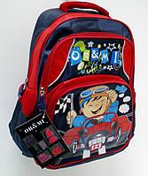 Рюкзак школьный, для младшего школьного возраста, гонщик.
