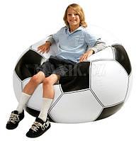 """Intex 68557 Надувное кресло """"Футбольный Мяч"""", 110*110*66 см"""