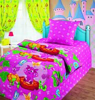 Комплект постельного белья полуторный Лунтик и бабочки