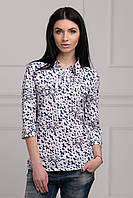 Блуза прямого силуэта из сатина
