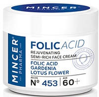 "Крем для лица ""Гардения и Цветок лотоса"", Folic Acid Cream, Mincer"