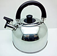 Чайник со свистком 2,5 л, нержавейка, для газовой плиты