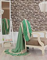 Покрывало хлопковое Eponj Home - Enlora Haris светло зеленое 200*240