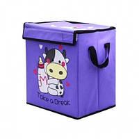 Текстильный ящик для игрушек Коровка